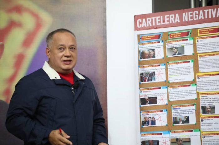 Cabello asegura que Guaidó buscará votos de diputados en el exilio