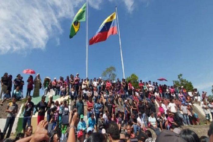 Pemones protestaron en la frontera para exigir cese de la persecución