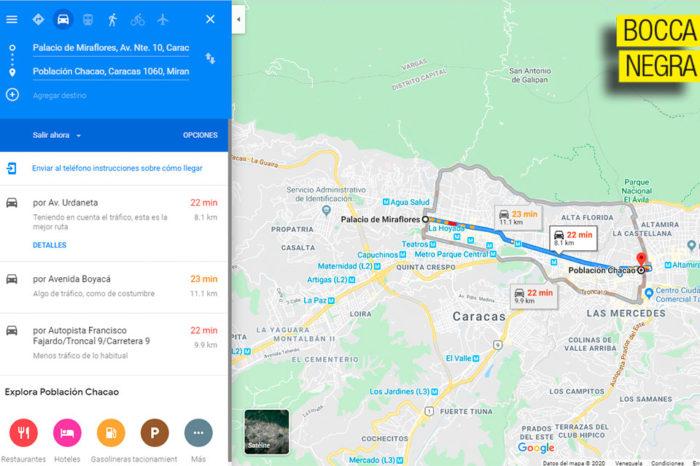 Maduro dice que entre Miraflores y Carmelitas hay 8 kilómetros