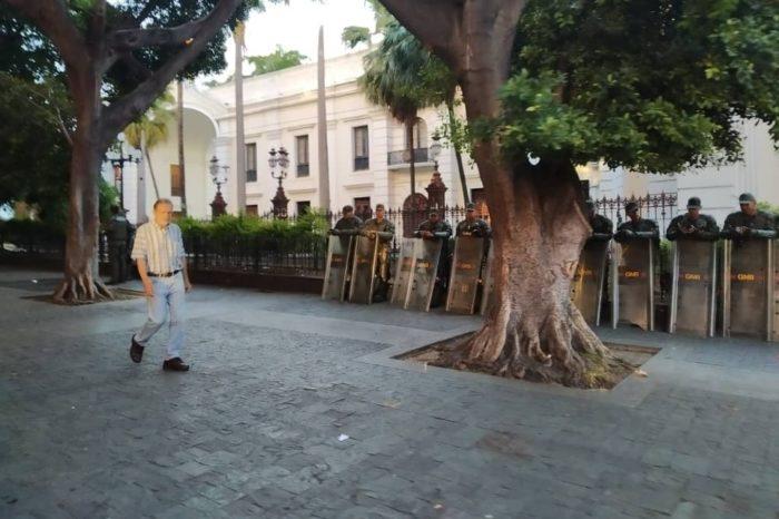 Palacio Federal Legislativo amanece custodiado otra vez por la Guardia Nacional