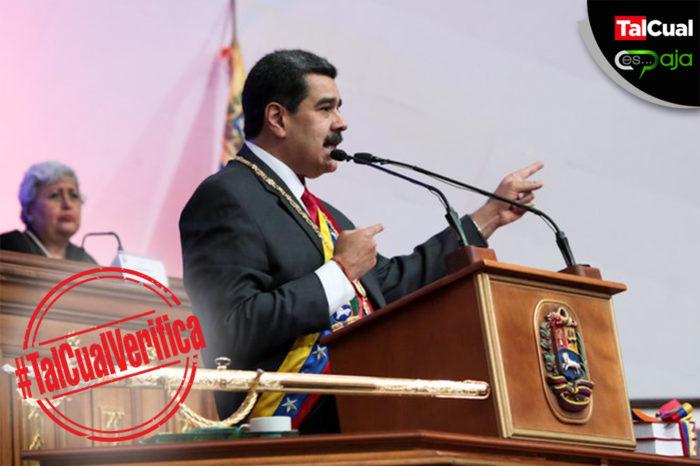 De 30 afirmaciones Maduro solo pegó una en su Memoria y Cuenta #TalCualVerifica