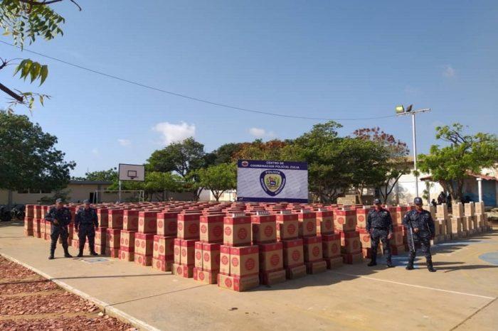 Policía del Zulia incauta 10,3 millones de cigarrillos de contrabando