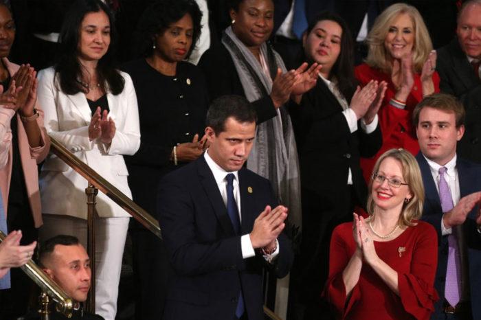 Juan Guaidó fue aplaudido en el discurso anual de Donald Trump ante el Congreso de EEUU