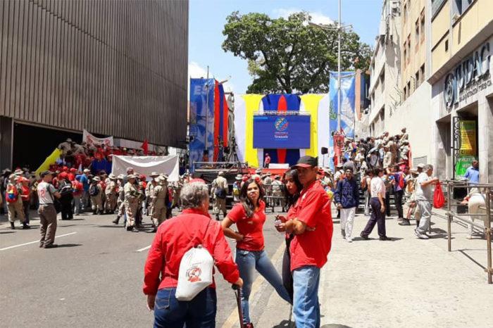 Oficialistas hacen bailanta por los 31 años del caracazo