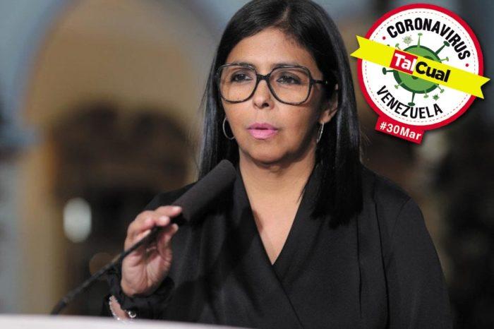 Delcy Rodríguez reporte covid-19