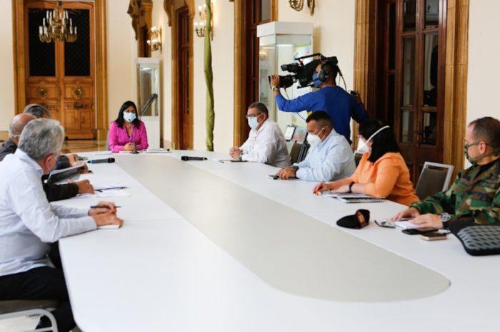 Delcy Rodríguez anunció plan de desinfección por covid-19 en el país