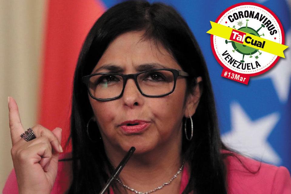 Delcy Rodríguez no reporta ningún caso de coronavirus