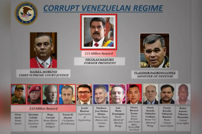 EEUU ofrece $15 millones de recompensa por Maduro y $10 millones por cuatro colaboradores