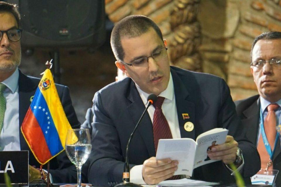 Jorge Arreaza covid-19 EEUU parlamentarias condolencias