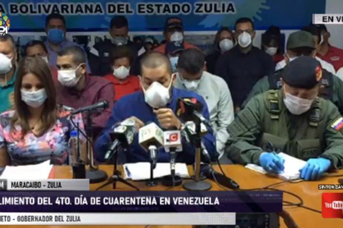 Omar Prieto, gobernador de Zulia,habla del coronavirus