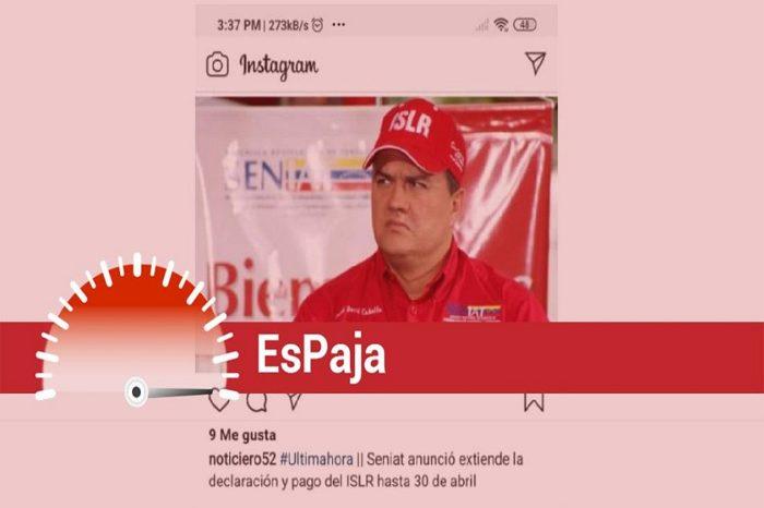 EsPaja | Seniat no prorrogó plazo para el pago del ISLR