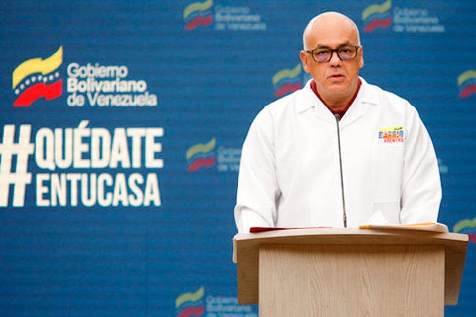 jorge Rodríguez sobre casos de covid-19