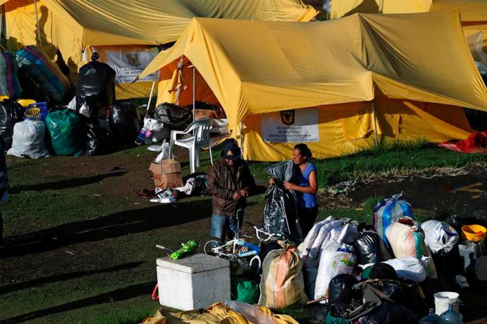 Venezolanos refugiados