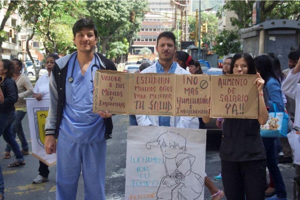Protesta del sector Salud