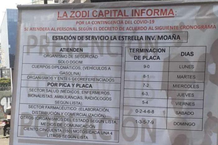 Gasolina por placa: la modalidad para racionar venta de combustible en Caracas
