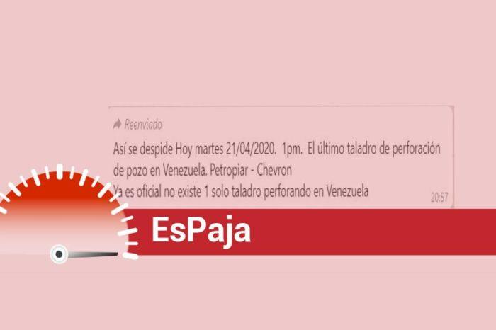 EsPaja | ¿Es verdad que se pararon todos los taladros petroleros en Venezuela?