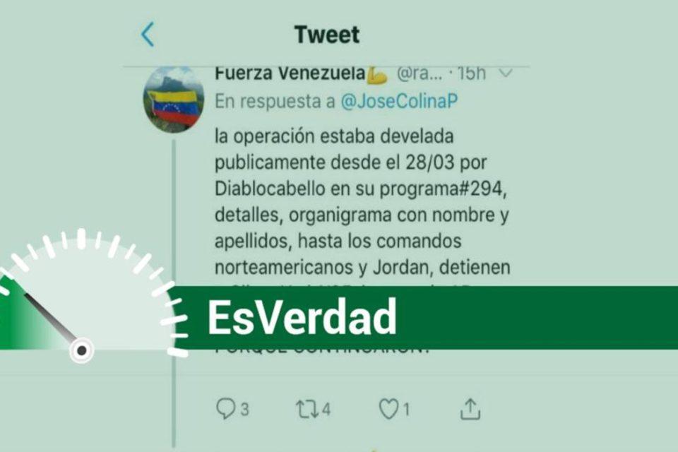 Diosdado Operación Gedeón