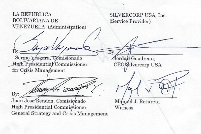 Esto es lo que dice el contrato firmado por estrategas de Guaidó y Silvercorp
