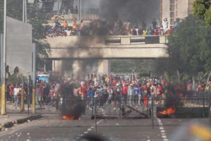 Protesta en el mercado Las Pulgas