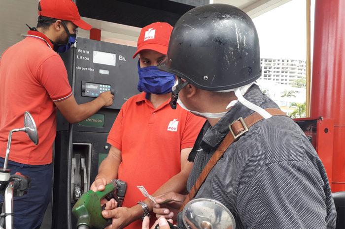 Gasolina escasea en cuarentena