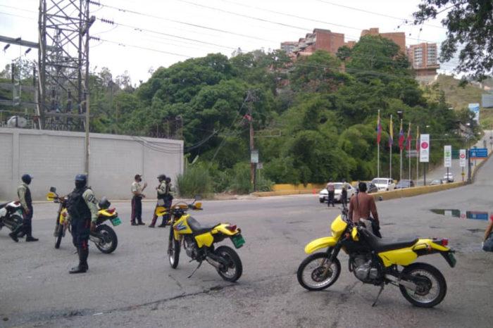 Cierre de accesos a El Hatillo