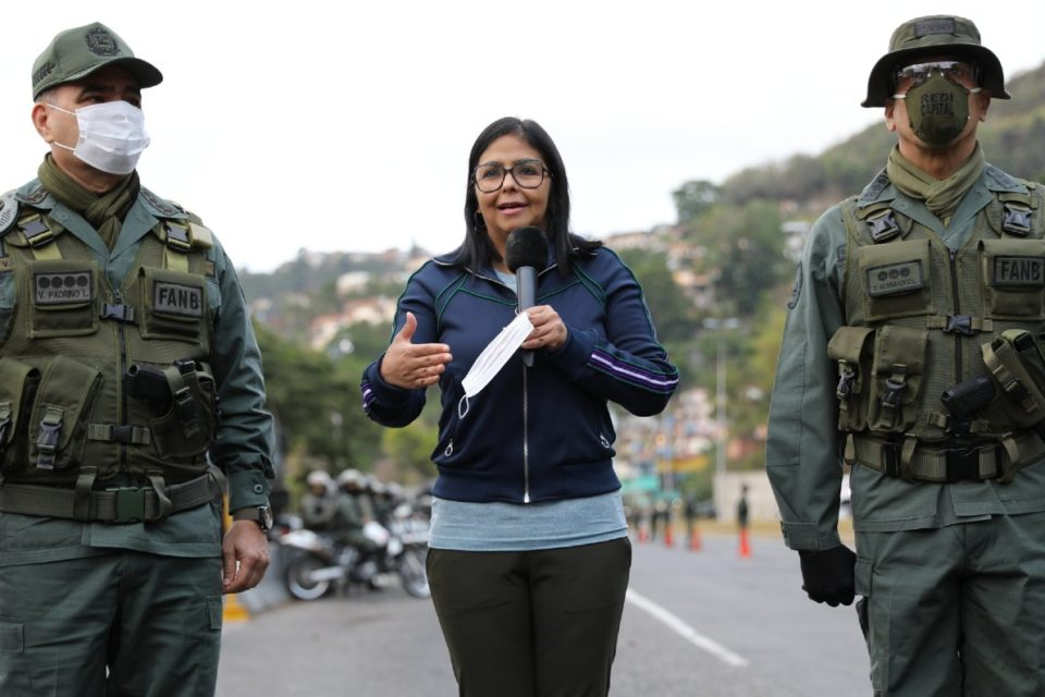Delcy Rodriguez Padrino Lopez Cuarentena