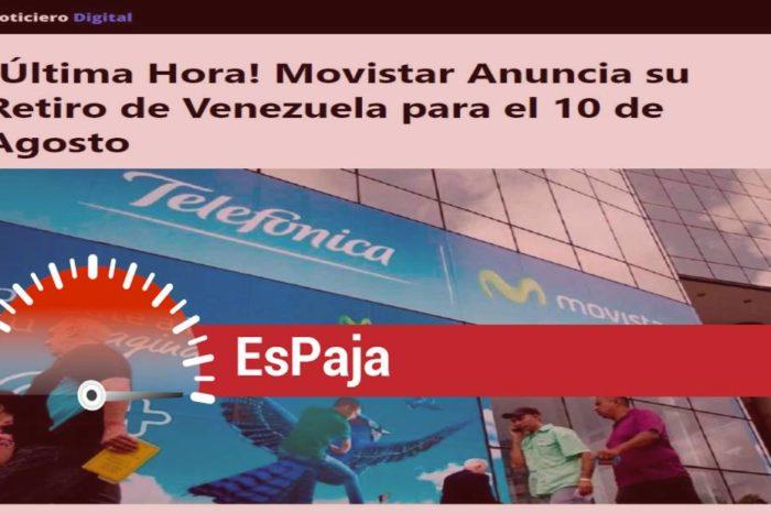 EsPaja   ¿Se va Movistar de Venezuela el 10 de agosto?