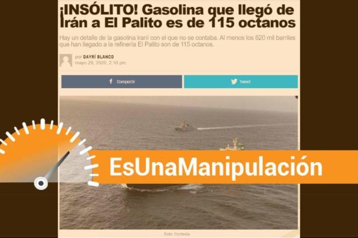 EsPaja | ¿La gasolina que llegó de Irán es de 115 octanos?