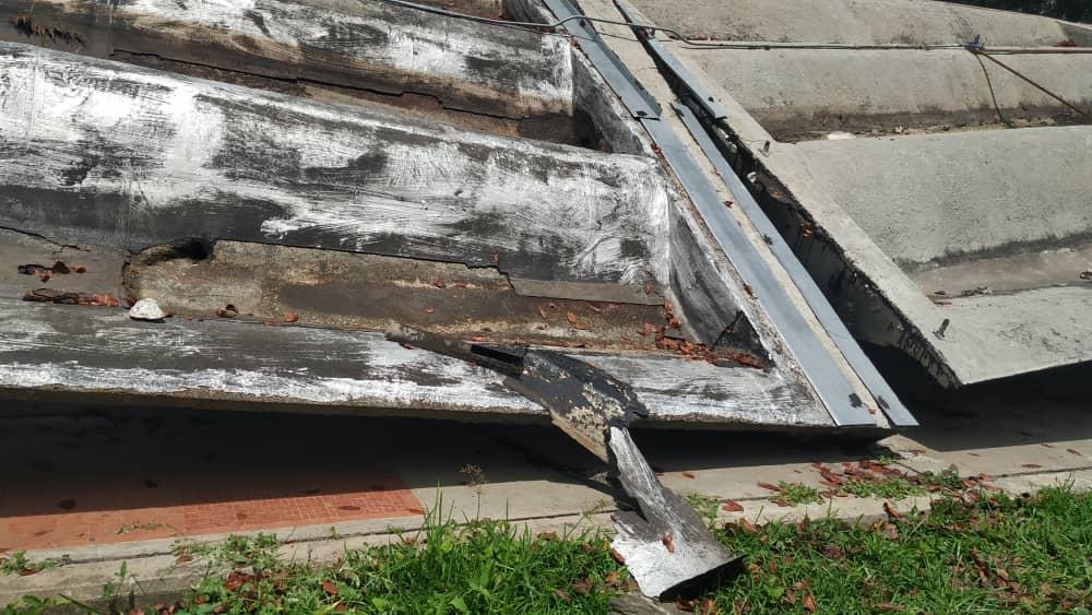 techo de la UCV se fracturó