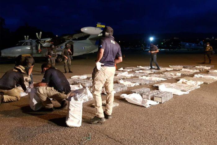 cocaína incautada en Honduras