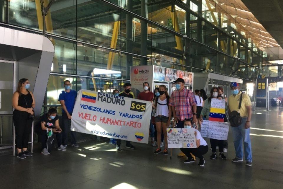 Venezolanos varados en España
