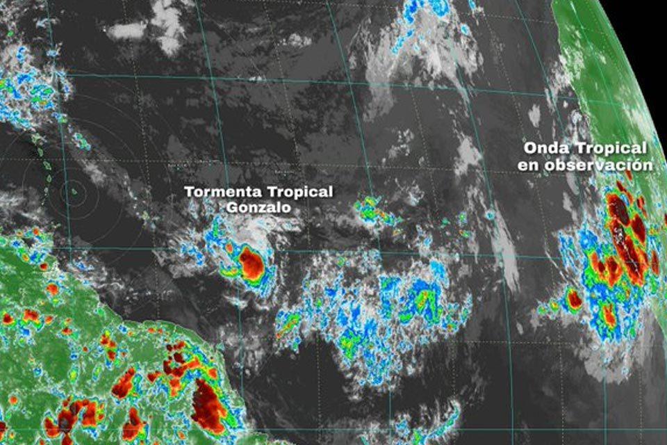 Tormenta tropical Gonzalo se moverá al sur de Barlovento el #25Jul