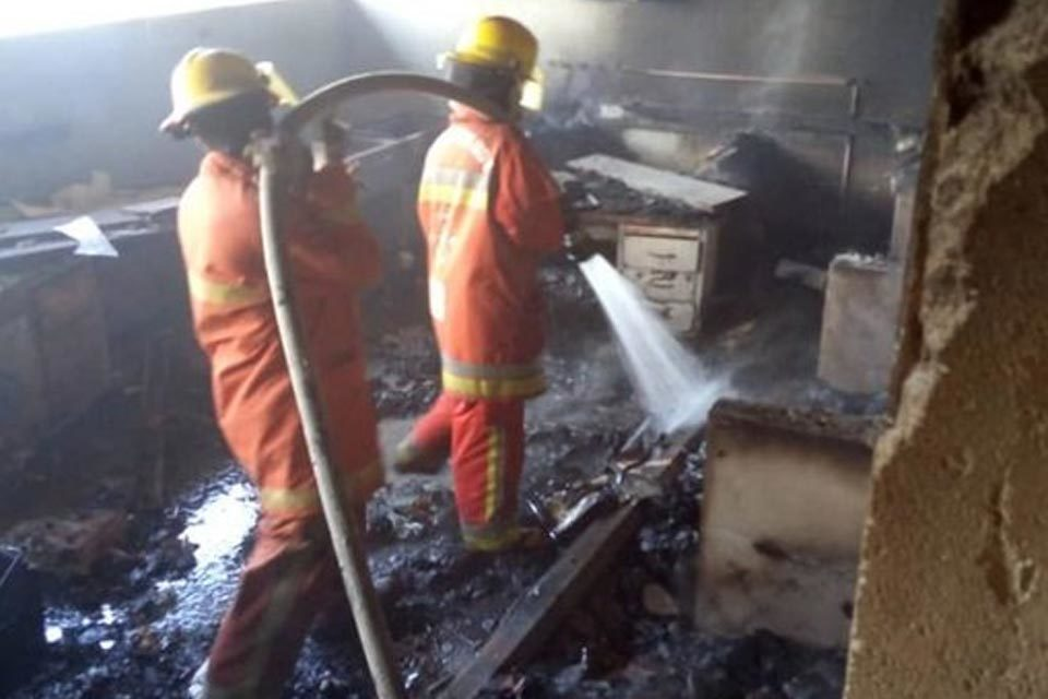 Incendio en la UDO