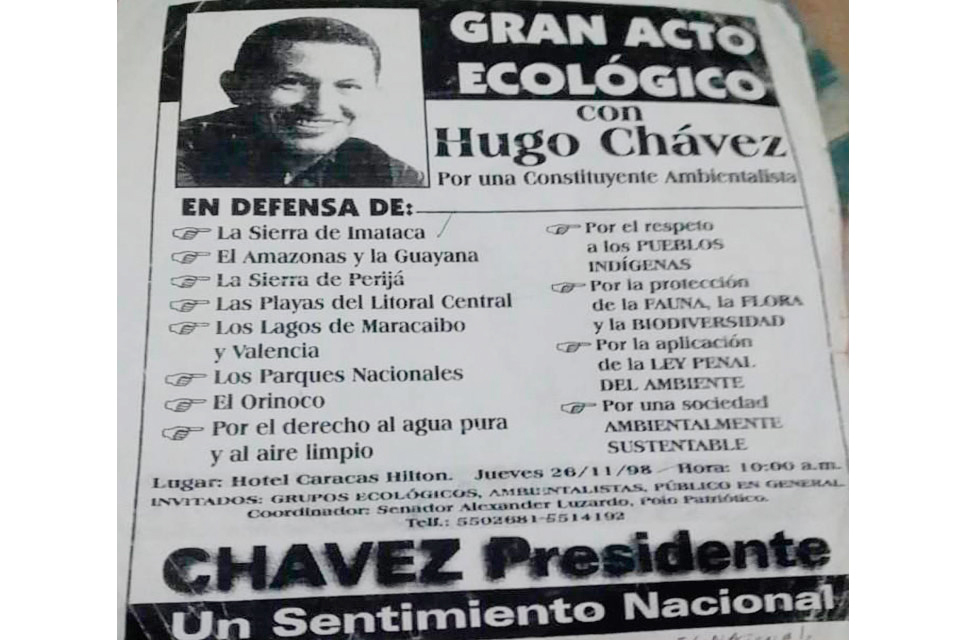 Constituyente ecológica de Hugo Chávez