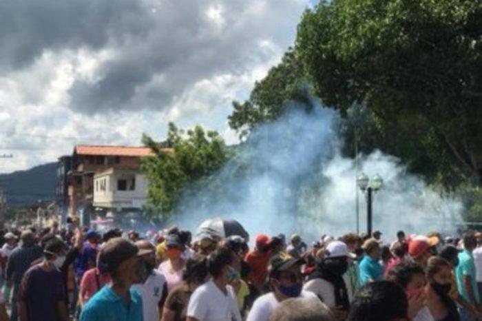 Represión- protesta Chivacoa Yaracuy 23.09.2020 servicios públicos septiembre