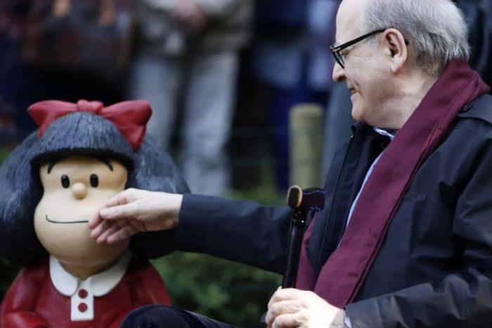 """""""Quino"""", creador de Mafalda, falleció este #30Sep a sus 88 años"""