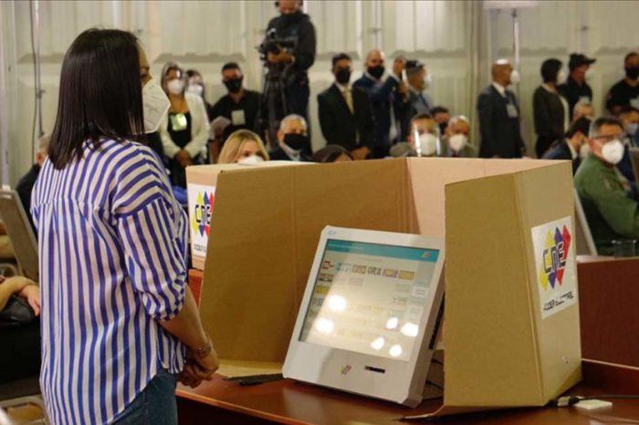 CNE máquinas votación elecciones parlamentarias 6D