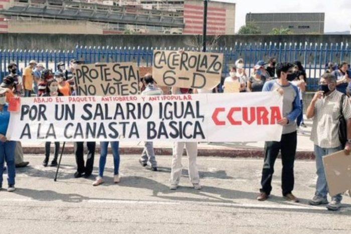 Educadores y trabajadores de la salud protestaron en rechazo a los #SalariosDeHambre