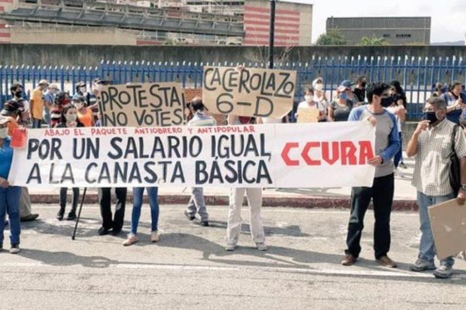 Protesta de educadores