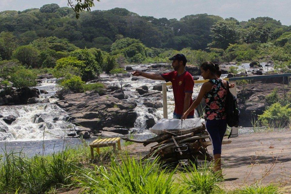 Parque Cachamay Bolivar leña