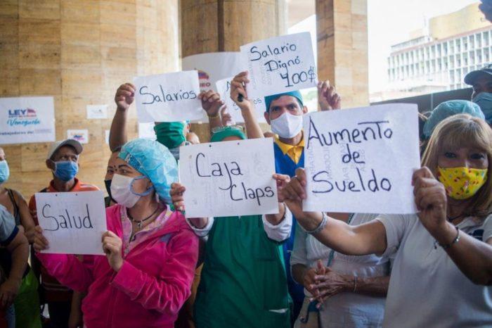 protesta trabajadores sanitarios