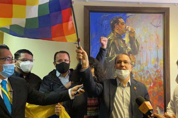 Arreaza Embajada Venezuela en Bolivia
