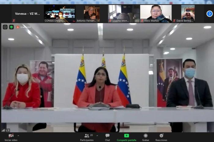Delcy Rodríguez sostuvo reunión con Consecomercio