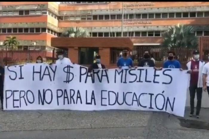 Estudiantes protesta