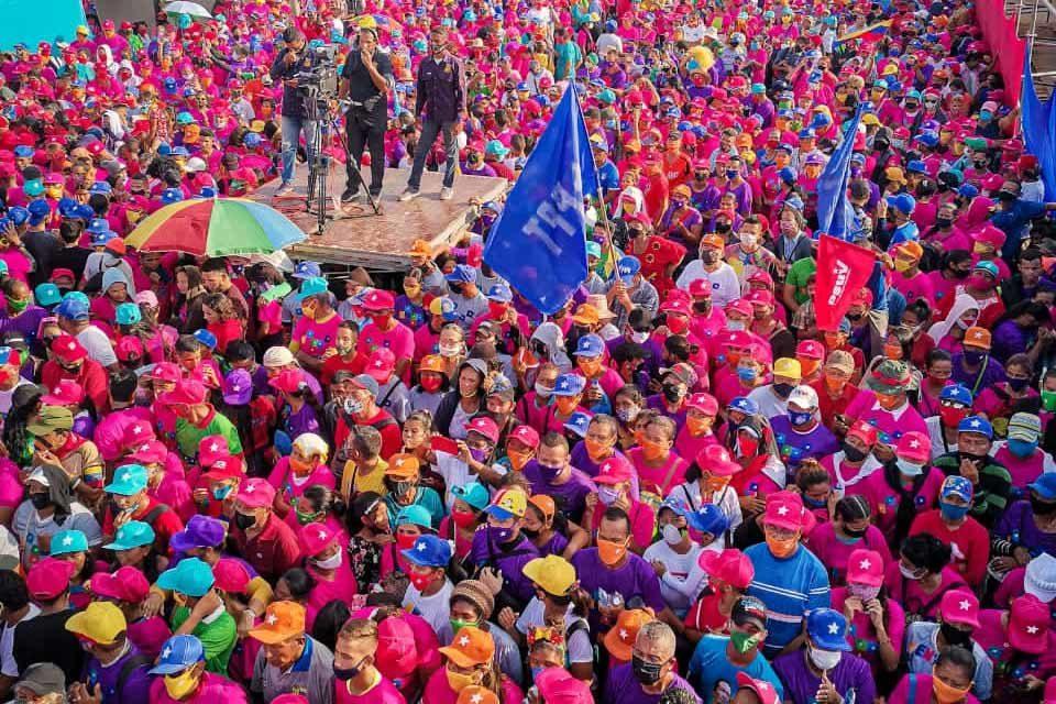 Marcha del PSUV en Zulia