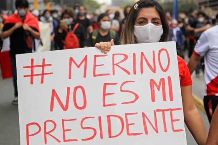 Tiktokers son los líderes de las protestas en contra del presidente interino de Perú