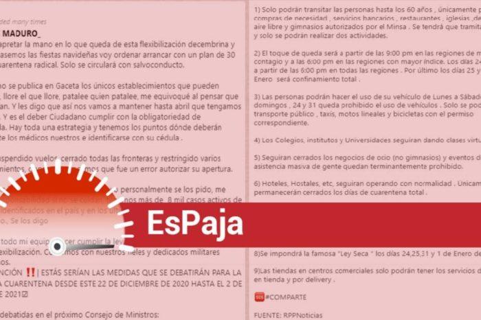 EsPaja cuarentena Maduro