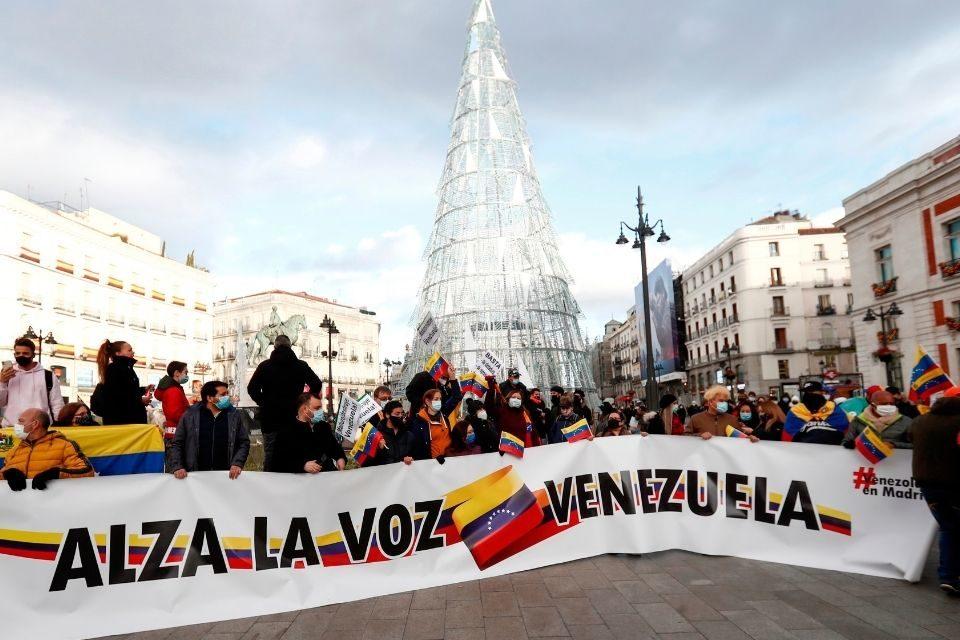 Venezolanos protestaron