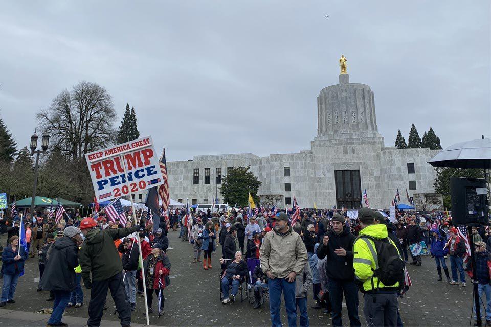 Protestas en el Capitolio de Oregon, EEUU