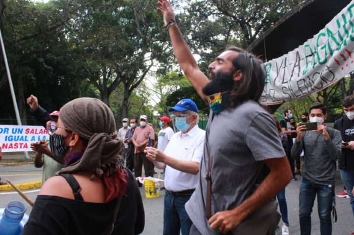 protesta UCV 23.01.2021 ong